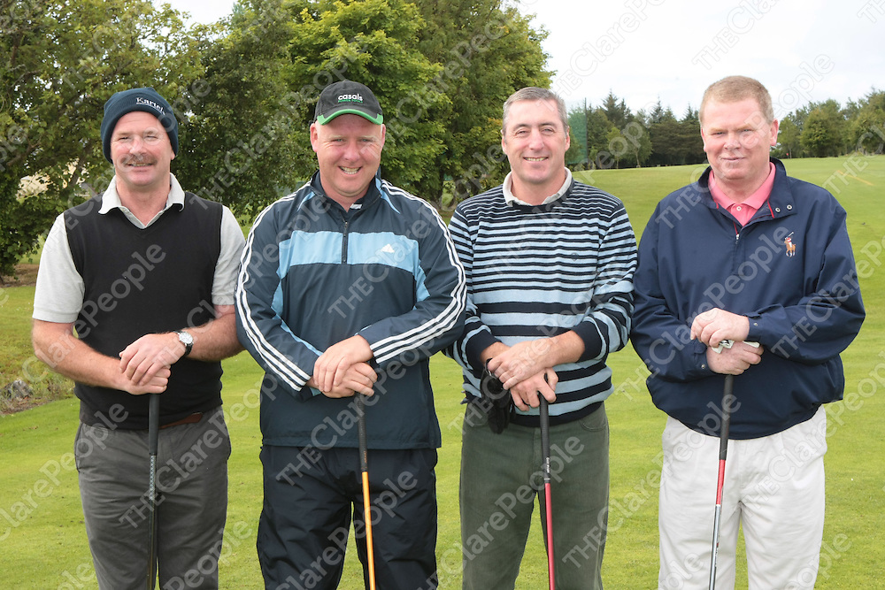 16/11/2011<br /> Taking part in the Ennis RFC Golf Classic at Ennis Golf Club on Saturday were Pat Lynch, Ennis, Ollie Meskell, Lahinch, John Russell and Peter Barry both Woodstock.<br /> Picture: Liam Burke/Press 22