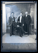 studio portrait of father with sons France ca 1930s