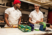 Two chefs at 21 Greenpoint, Homer Murray's Brooklyn Restaurant.