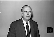 15/11/1965<br /> 11/15/1965<br /> 15 November 1965<br /> Press conference regarding Material handling Exhibition at the Shelbourne Hotel, Dublin. Picture shows Mr R.J. Walby, Institute of Materials Handling.