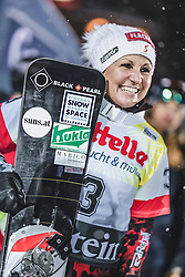 08.01.2019, Bucheben Piste, Bad Gastein, AUT, FIS Weltcup Snowboard, Parallelslalom, Damen, Siegerehrung, im Bild Siegerin Riegler Claudia (AUT) // Winner Riegler Claudia of Austria during the winner Ceremony for the women's parallel Slalom of the FIS Snowboard Worldcup at the Bucheben Piste in Bad Gastein, Austria on 2019/01/08. EXPA Pictures © 2019, PhotoCredit: EXPA/ JFK
