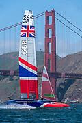 SailGP Team GBR practice in San Francisco.