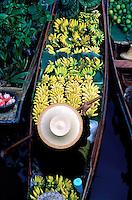 Thailande, Thailande, marche flottant de Damnoen Saduak// Thailand, Samut Songkhram province, Damnoen Saduak, Floating market