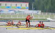 Shunyi, CHINA.  Lightweight men's fours final, POL LM4- at the 2008 Olympic Regatta, Shunyi Rowing Course. Sun. 17.08.2008  [Mandatory Credit: Peter SPURRIER, Intersport Images]