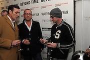 DAMON BRYANT; SEAN PERTWEEL JAMES LAVELLE, Vanity Fair  hosted  UK Premiere and party for Beyond Time. A film about the artist William Turnbull made by his son Alex Turnbull. Narrated by Jude Law. I.C.A. London. 17 November 2011<br /> <br />  , -DO NOT ARCHIVE-© Copyright Photograph by Dafydd Jones. 248 Clapham Rd. London SW9 0PZ. Tel 0207 820 0771. www.dafjones.com.