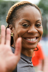 Sanya Richards-Ross victory lap wave to crowd