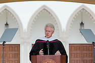 President Clinton at LMU commencement ceremonies.