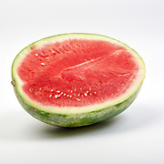 Fresh and organic watermelon on white background