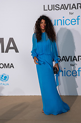 Afef Jnifen arriving at a photocall for the Unicef Summer Gala Presented by Luisaviaroma at Villa Violina on August 10, 2018 in Porto Cervo, Italy. Photo by Alessandro Tocco/ABACAPRESS.COM