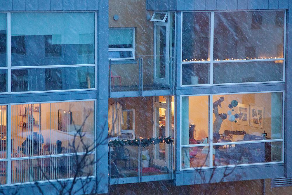 Cold winds make indoors cozy in Reykjavik, December 23, 2013.