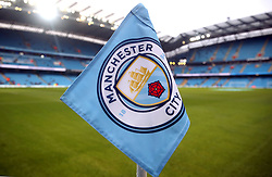 Manchester City's corner flag in the stadium prior to the Premier League match at the Etihad Stadium, Manchester.