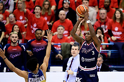 Fred Thomas of Bristol Flyers - Photo mandatory by-line: Ryan Hiscott/JMP - 26/01/2020 - BASKETBALL - Arena Birmingham - Birmingham, England - Bristol Flyers v Worcester Wolves - British Basketball League Cup Final