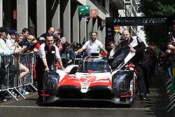 June 11, 2018 - Le Mans, FRANCE - 7 TOYOTA GAZOO RACING (JPN) TOYOTA TS050 MIKE CONWAY (GBR) KAMUI KOBAYASHI (JPN) JOSE MARIA LOPEZ  (Credit Image: © Panoramic via ZUMA Press)