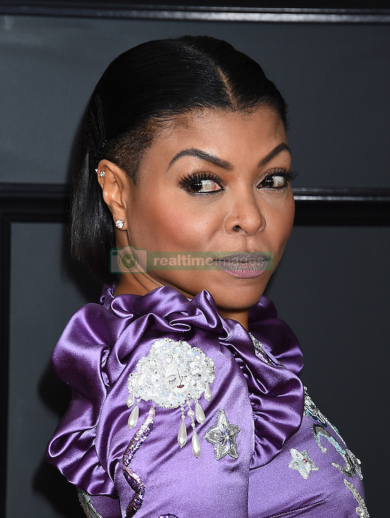 Celebrities arrive on the red carpet for the 59th Grammy Awards held at the Staples Centre in downtown Los Angeles, California. 12 Feb 2017 Pictured: Taraji P. Henson. Photo credit: MEGA TheMegaAgency.com +1 888 505 6342