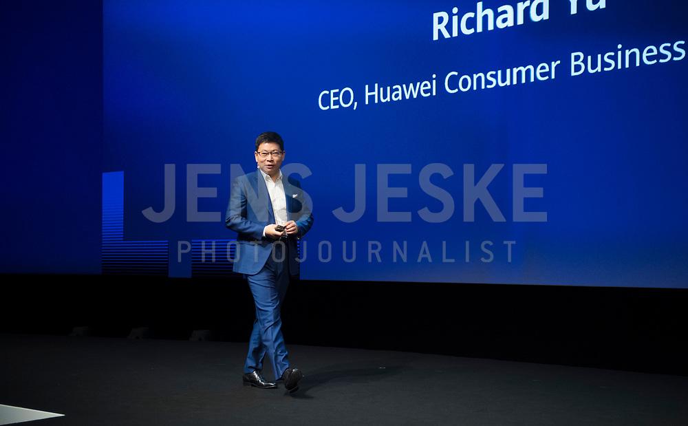 DEU, Deutschland, Germany, Berlin, 06.09.2019: Internationale Funkausstellung (IFA), Opening Keynote Richard (Chengdong) Yu, CEO HUAWEI Consumer Business Group.