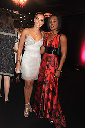 Left to right, singers JESSICA PEITERSON and KELLI YOUNG  from Liberty X at the End of Summer Ball in support of The Prince's Trust in Berkeley Square, London on 25th September 2008.