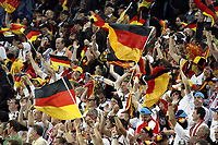 GEPA-0806085940 - KLAGENFURT,AUSTRIA,08.JUN.08 - FUSSBALL - UEFA Europameisterschaft, EURO 2008, Deutschland vs Polen, GER vs POL. Bild zeigt Fans. Keywords: Fahne, Falgge.<br />Foto: GEPA pictures/ Oskar Hoeher