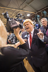 October 28, 2016 - Manchester, NH, USA - A Donald Trump impersonator is interviewed during a campaign stop by Donald Trump, the republican candidate for president of the United States, at the Armory Ballroom in the Radisson Hotel in Manchester, NH. (Credit Image: © Bryce Vickmark via ZUMA Wire)