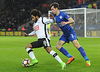 Football - 2016 / 2017 FA Cup - Fourth Round, Replay: Leicester City vs. Derby County<br /> <br /> Ikechi Anya of Derby and Ben Chilwell of Leicester at King Power Stadium.<br /> <br /> COLORSPORT/ANDREW COWIE