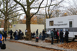 10.11.2015, Landesamt fuer Gesundheit und Soziales, Berlin, GER, Flüchtlingskrise in der EU, im Bild Rund 120 Fluechtlige werden taeglich auf TBC getestet // Europe is dealing with its greatest influx of migrants and asylum seekers since World War II as immigrants fleeing war and poverty in the Middle East, Afghanistan and Africa try to reach Germany and other Western European countries, Landesamt  fuer Gesundheit und Soziales in Berlin, Germany on 2015/11/10. EXPA Pictures © 2015, PhotoCredit: EXPA/ Eibner-Pressefoto/ Hundt<br /> <br /> *****ATTENTION - OUT of GER*****