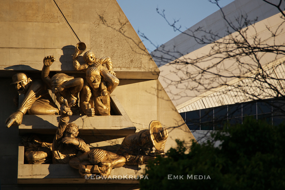 """""""The Audience"""" - A sculpture by Michael Snow adorning the facade on the northwest corner of Rogers Centre, home of the Toronto Blue Jays Major League Baseball franchise."""