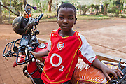 A boy who lives at the AFCIC residential centre in Thika, Kenya. AFCIC - Action for children in conflict, help children who have been affected by various forms conflict or crisis.