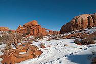 Skyline Arch, Arches National Park, Utah, winter