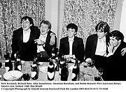 Nick Kermack, Richard Bott, John Stonehouse, Jonathan Burnham, and Robin Howard. Piers Gaveston dinner. Norreys Ave, Oxford. 1980. film 8036f0<br /> © Copyright Photograph by Dafydd Jones<br /> 66 Stockwell Park Rd. London SW9 0DA<br /> Tel 0171 733 0108