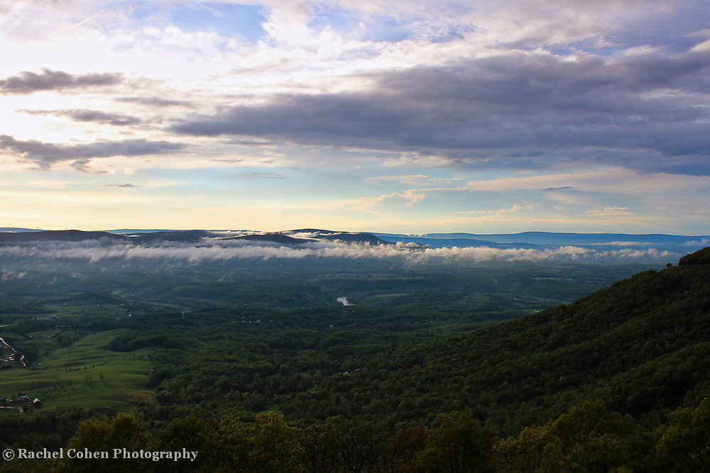 """""""Shenandoah""""<br /> <br /> A scenic and peaceful view onto mountains and valleys in The Shenandoah National Park!!<br /> <br /> The Blue Ridge Mountains by Rachel Cohen."""