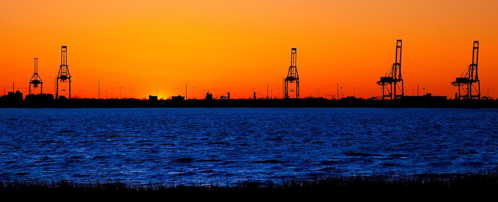 Charleston Port at Sunset - Charleston, SC