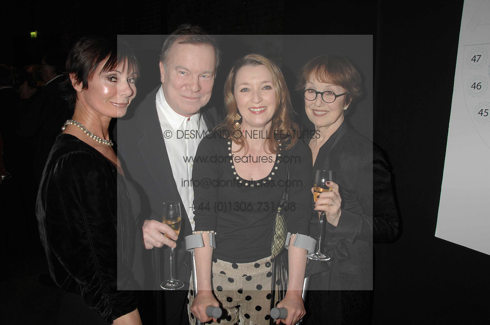 Left to right, NICKY & MARGUERITA HENSON, LESLIE MANVILLE and UNA STUBBS  at Fast Forward - a fund-raising party for the National Theatre held at The Roundhouse, London NW1 on 1st March 2007.<br />