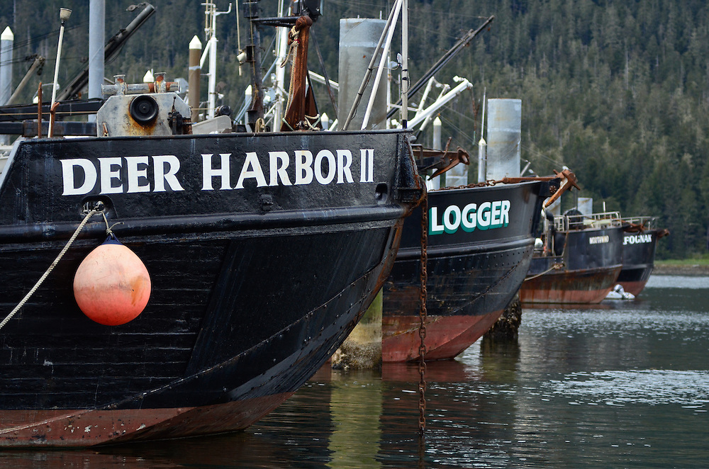 Boats in Petersburg harbor, Alaska.