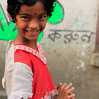 Asia, India, Calcutta. Young girl in Calcutta.