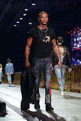 """Milan, Backstage, Parade Philipp Plein """"Spring / summer 2018 Men's and Women's Fashion Show"""" in photo: Jeremy Meeks"""