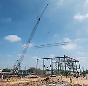 Construction at Lee High School, April 15, 2016.