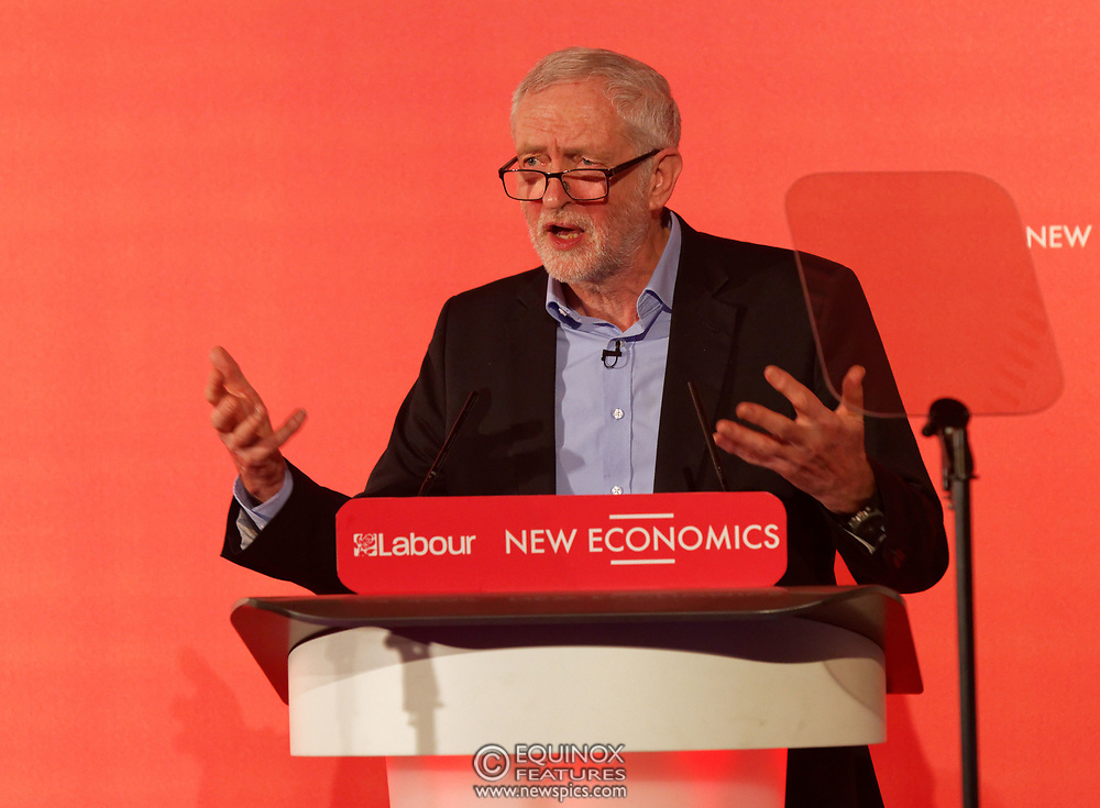 London, United Kingdom - 10 February 2018<br /> Leader of the Labour Party Jeremy Corbyn, speaking at the Labour Party's Alternative Models of Ownership Conference where he spoke about new 21st century forms of democratic ownership of industries.<br /> www.newspics.com/#!/contact<br /> (photo by: EQUINOXFEATURES.COM)<br /> Picture Data:<br /> Photographer: Equinox Features<br /> Copyright: ©2018 Equinox Licensing Ltd. +448700 780000<br /> Contact: Equinox Features<br /> Date Taken: 20180210<br /> Time Taken: 15572401