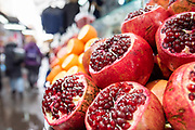 Pomegranates at the Carmel Market, Tel Aviv, Israel