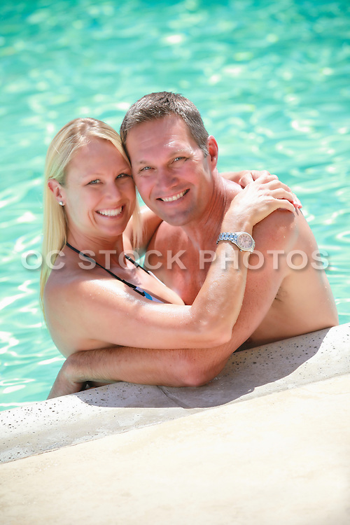 Attractive Middle Aged Couple at the Pool