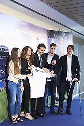 June 14, 2018 - Madrid, Madrid, Spain - Julen Lopetegui, Rosa Sanchez Maqueda and sons during the presentation of Julen Lopetegui as new head coach of Real Madrid F.C. at Santiago Bernabeu Stadium on June 14, 2018 in Madrid, Spain (Credit Image: © Jack Abuin via ZUMA Wire)