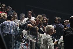 June 25, 2017 - Paris, FRANCE - EMMANUEL MACRON PRESIDENT DE LA REPUBLIQUE FRANCAISE AU CONCERT DES VIEILLES CANAILLES A BERCY LE 25 JUIN 2017 (Credit Image: © Panoramic via ZUMA Press)