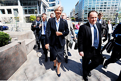 File Photo - French Finance Minister Christine Lagarde during the IMF-World Bank spring meeting in Washington, DC, USA, on Saturday, April 16, 2011. At the top of the agenda for the G-20 and the IMF is the issue of global imbalances, against which U.S.-China relations have long been measured. The European Council announced Tuesday that Lagarde, the current head of the International Monetary Fund, had been chosen to succeed Mario Draghi as president of the European Central Bank,, whose eight-year term ends in October. Photo by Olivier Douliery/ABACAPRESS.COM