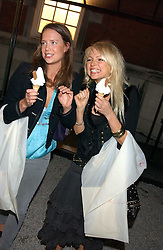 Left to right, ARABELLA MUSGRAVE and HANNAH SANDLING at a party to celebrate the Stella McCartney's unique collaboration with fashion store H&M at St.Olavs, Tooley Street, London SE1 on 25th October 2005.<br /><br />NON EXCLUSIVE - WORLD RIGHTS