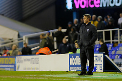 Birmingham City Manager, Lee Clark  looks on as his side lose 0 - 2 to Yeovil Town - Photo mandatory by-line: Dougie Allward/JMP - Tel: Mobile: 07966 386802 18/01/2014 - SPORT - FOOTBALL - St Andrew's Stadium - Birmingham - Birmingham City v Yeovil Town - Sky Bet Championship