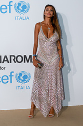 Cristina Buccino arriving at a photocall for the Unicef Summer Gala Presented by Luisaviaroma at Villa Violina on August 10, 2018 in Porto Cervo, Italy. Photo by Alessandro Tocco/ABACAPRESS.COM