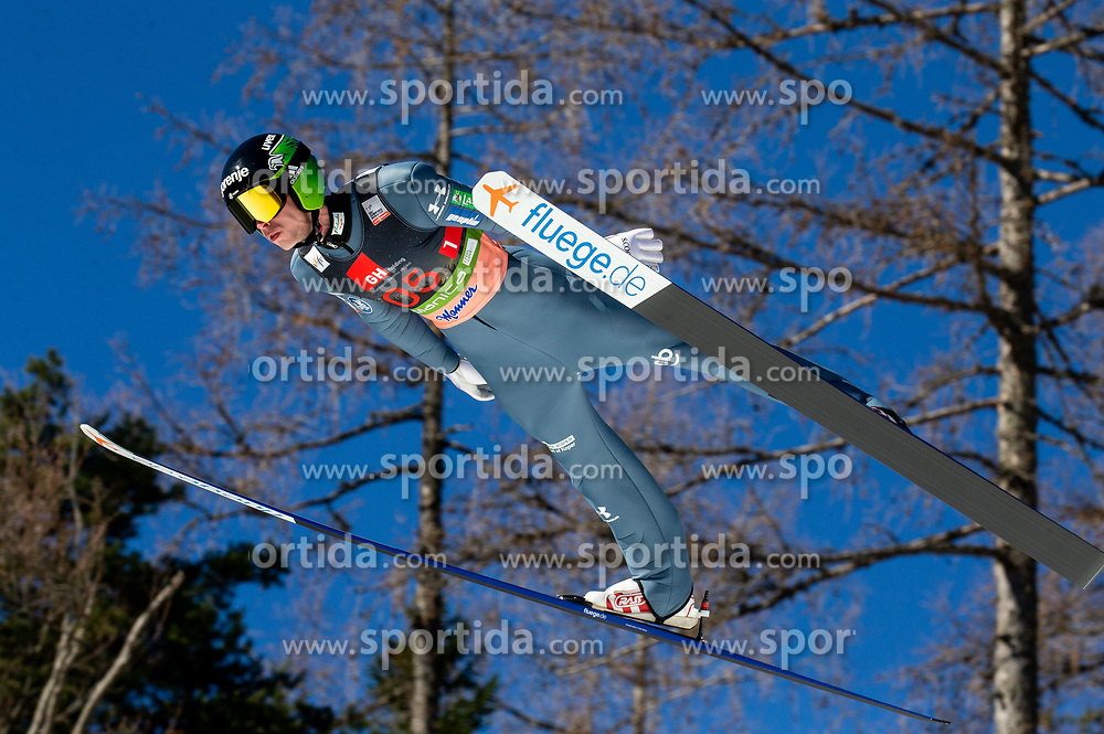 Anze Semenic (SLO) soaring through the air during the Ski Flying Hill Team Competition at Day 3 of FIS Ski Jumping World Cup Final 2019, on March 23, 2019 in Planica, Slovenia. Photo by Vid Ponikvar / Sportida