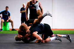 Ollie Lawrence and Jamie Shillcock of Worcester Warriors during preseason training ahead of the 2019/20 Gallagher Premiership Rugby season - Mandatory by-line: Robbie Stephenson/JMP - 06/08/2019 - RUGBY - Sixways Stadium - Worcester, England - Worcester Warriors Preseason Training 2019