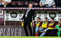 Burnley manager Sean Dyche watches on in the first half<br /> <br /> Photographer Alex Dodd/CameraSport<br /> <br /> UEFA Europa League - UEFA Europa League Qualifying Second Leg 2 - Burnley v Olympiakos - Thursday August 30th 2018 - Turf Moor - Burnley<br />  <br /> World Copyright © 2018 CameraSport. All rights reserved. 43 Linden Ave. Countesthorpe. Leicester. England. LE8 5PG - Tel: +44 (0) 116 277 4147 - admin@camerasport.com - www.camerasport.com