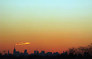 ' Sunset from a Cemetary in the Bronx '
