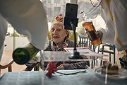 Mrs. Teresa celebrating her 95th birthday. It was a special day at the Gure-etxea Geriatric Center, I enjoyed the whole team, a moment of happiness. Barcelona, Spain, May, 7, 2020. The number of deaths from coronavirus in homes in Catalonia since 15 March has risen to 4,378, which is 50% of the total in the community, according to the regional funeral parlours register. In the region, there are a total of 64,093 elderly people living in one of the 1,073 homes in this community, whether public or private, and at least 27,511 of them have been diagnosed with coronavirus, according to data provided by the Catalan Ministry of Health.