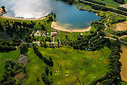 Nederland, Gelderland, gemeente Barneveld, 30-06-2011;.Voorthuizen, strandbad, midgetgolf. Recreatiegebied..Recreation area with miniature golf and beach near the city of Voorthuizen..luchtfoto (toeslag), aerial photo (additional fee required).copyright foto/photo Siebe Swart